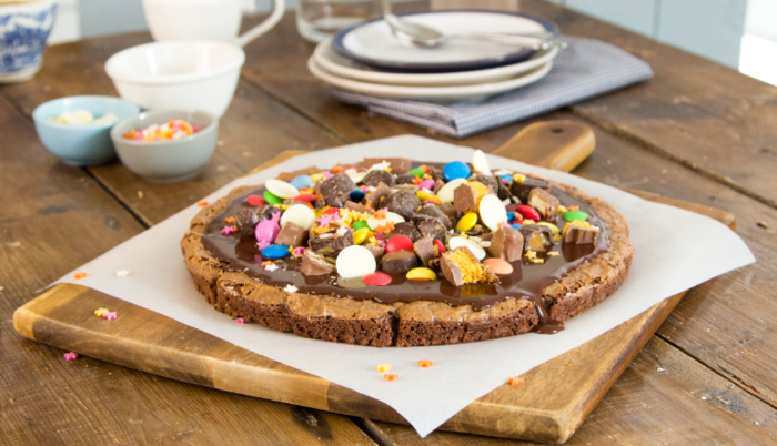 Brownie pizza