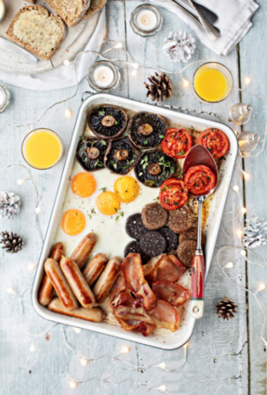 One tray full Irish breakfast
