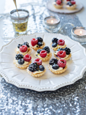Mixed berry tartlets